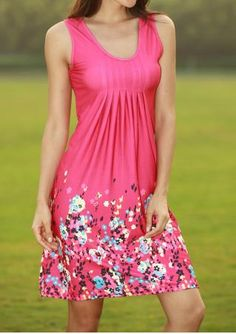 Floral Printed Ruffled Casual Dress