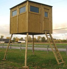 1000 images about enclosed deer stands on pinterest for Enclosed tree stand designs