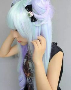 hair accessory hair blue eye ribbon pastel pastel goth pastel hipster hipster goth goth hipster grunge lolita fashion
