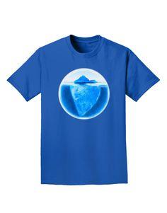 TooLoud Iceberg Watercolor Adult Dark T-Shirt