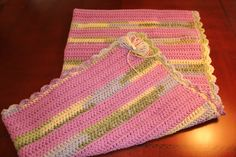 """Baby Blanket - Lavender Variegated 37"""" 37"""" $40 +shipping"""
