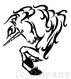 Unicorn tattoo -request- by Dileany.deviantart.com on @deviantART