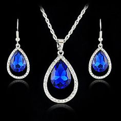 Women+Fashion+Simple+Alloy/Crystal+Drop+Shape+Jewelry+Set(In...+–+CAD+$+12.50