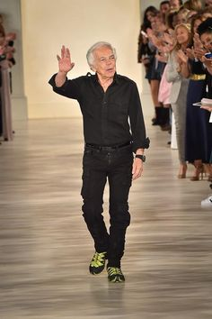 Ralph Lauren always keeps it hip after his fashion shows (broken hip, that is)