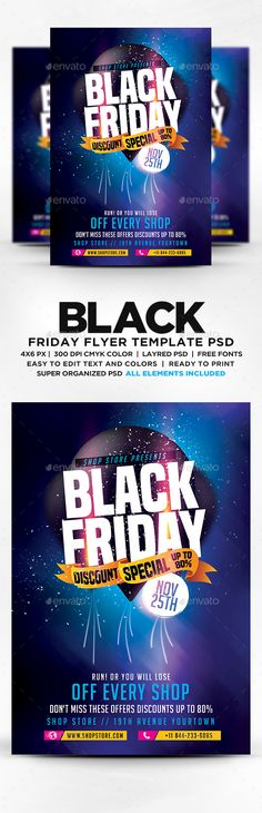 Black Friday Flyer Template Flyers, Black friday and Flyer template - black flyer template