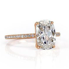 3.31ct Old Mine Cut Diamond Engagement Ring
