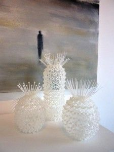 """Regan, a 38 year old artist from Wanaka, New Zealand, attributes her unexpected affinity for cable ties to a personal love of ""spikey sunflower clocks and spiny sea creatures."" She bought her first package of cable ties about two years ago in an attempt to simply ""make something spikey."" And now she considers herself to be obsessed."""