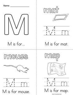 m preschool coloring pages - photo#41