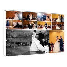 Wedding photo collage photo collages, photo canvas collage