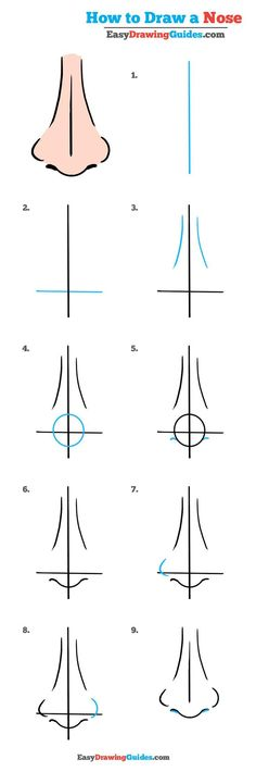113 best character anatomy nose images on pinterest art how to draw a nose really easy drawing tutorial ccuart Images