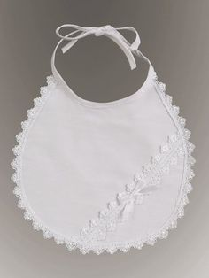 $14.95-$12.00 Baby Cotton bib perfect for Christening or Baptism, or just for dress up.