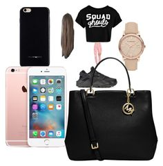 """😘😍"" by pettyallthe on Polyvore featuring Boohoo, NIKE, Burberry, Giani Bernini, Felony Case and MICHAEL Michael Kors"