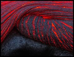 Lava flows bends and turns like water of Horseshoe Bend.