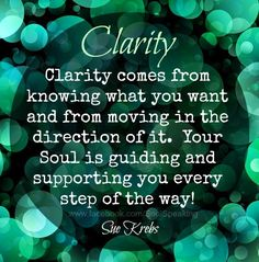 http://klaritymarketing.co.uk can help you ....'know what you want and move in the direction of it!' -Lisa #clarity