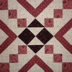Kathy's Quilts: Saturday Sampler - Really Pretty Finished Quilt!!, This is a Great Project, Think I want to Make this!!  - Kathy's Pinterest Wall for the Quilt that this Block goes to = http://www.pinterest.com/source/kathysquilts.blogspot.com/