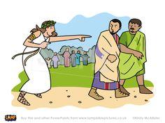 Slave girl follows Paul & Silas