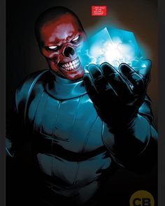 This pic of the Red Skull with the cosmic cube is sick. Art by Jesus Saiz from Captain America: Steve Rogers #2.  #RedSkull #CosmicCube #SteveRogers #CaptainAmerica #Hydra #HailHydra #HydraCap #MarvelComics