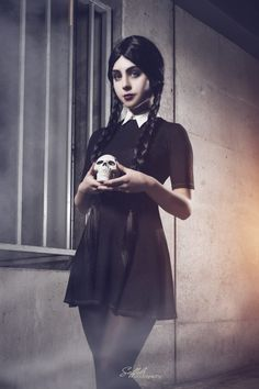 Wednesday Friday Addams from The Addams Family  Cosplayer: LifeofShel [FB | IN]  Photographer: Saffels Photography [TW | FB | IN]