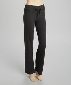 Heather Charcoal French Terry Lounge Pants by Heart & Hips #zulily #zulilyfinds