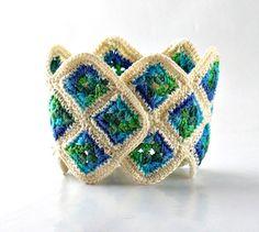 Crochet bracciale braccialetto fibra Bracciale di Nothingbutstring