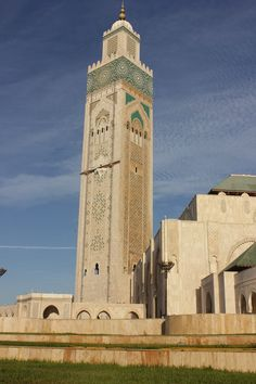 The Hassan II mosque. Built by the father of the current king. It is said that a;most everybody in Morocco contributed to the building of this magnificent structure.