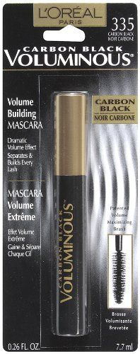 L'Oreal Paris Voluminous Mascara in Carbon Black, BEST drugstore mascara ever.
