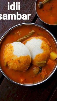 Sambhar Recipe, Chaat Recipe, Spicy Recipes, Curry Recipes, Paneer Recipes, Veggie Recipes, Kitchen Recipes, Cooking Recipes, Idli Sambar