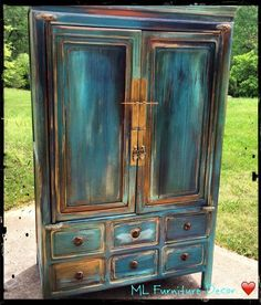 go bold, painted furniture