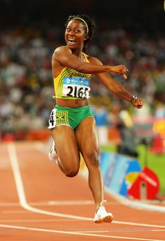 Shelly-Ann Fraser-Pryce, is a Jamaican sprinter who specializes in the 100m. Born in Kingston, Jamaica, Fraser is the reigning Olympic champion over 100m clocking a time of 10.78.The 09 World100m champion she is only the second female sprinter to hold both World and Olympic100m titles simultaneously (after Gail Devers) and is tied with Christine Arron as the 4th fastest woman in history over 100m.She attended the Wolmers High School for Girls and represented her school in many athletic occasions