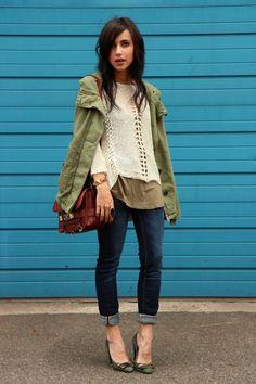 Parka- Zara,Sweater - Kilibi (-40%)(via Monshowroom), Jeans - H (old), Shoes - Missoni, Purse - Proenza Schouler