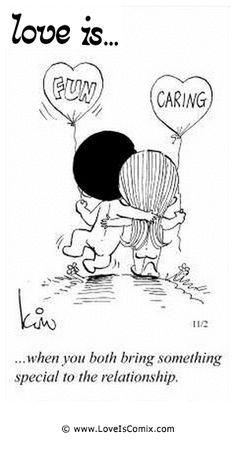 El amor es ... cuando ambos traen algo especial a la relación.