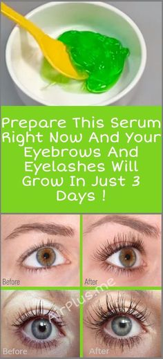 Prepare This Serum Right Now And Your Eyebrows And Eyelashes Will Grow In 3 Days Aloe vera gel, castor oil, vitamin E oil How To Grow Eyelashes, Longer Eyelashes, Thicker Eyelashes, False Eyelashes, Eyebrows Grow, Castor Oil Eyelashes, Fake Lashes, How To Regrow Eyebrows, Skin Care