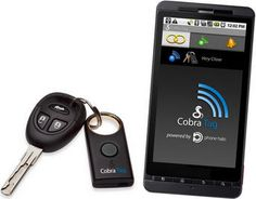 Find your keys with your phone, or your phone by using the key chain on your keys— genius! The Cobra Tag works worth Android, Blackberry, and soon iPhones to help all of us absent-minded people keep track of our keys and phones.