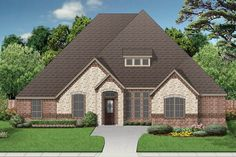 ePlans European House Plan – European Design with Dramatic Rooflines – 3340 Square Feet and 4 Bedrooms from ePlans – House Plan Code HWEPL76411
