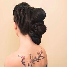 Brides ,braids,wedding,tattoos