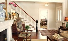 for the love of a house: the living room: Benjamin Moore Ashwood