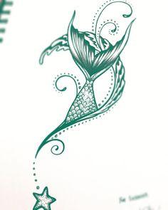 Mermaid tail commission for a good friend ?♀️ Mermaid tail commission for a good friend ?♀️ I HEART MUSIC/Professional Custom Guitar Pick Mermaids Beautiful Music Dragonfly Embroidered Flour Sack Hand/Dish Towel Hartslag muziek notn. Mermaid Tail Drawing, Mermaid Tail Tattoo, Ocean Wave Tattoo, Mermaid Tattoo Designs, Best Tattoo Designs, Tattoo Designs For Women, Tattoos For Women, Starfish Drawing, Finger Tattoos