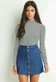 Buttoned Denim Skirt from Forever Saved to Senior Year. Shop more products from Forever 21 on Wanelo. 70s Fashion, Autumn Fashion, Fashion Outfits, Womens Fashion, Dress Fashion, Lolita Fashion, Petite Fashion, Fashion Spring, Curvy Fashion