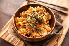Gobo and Miso Takikomi Gohan 牛蒡と味噌の炊き込みご飯 | Easy Japanese Recipes at JustOneCookbook.com