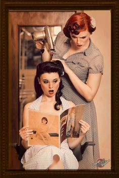 50's hair. I love hair and the styles and....hmm...I don't know how to explain it :/