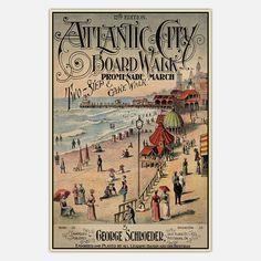 Atlantic City Boardwalk Print