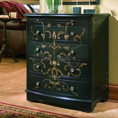Have to have it. Onyx 4 Drawer Chest - $402.99 @hayneedle