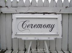 Cottage Sign, Vintage Sign, Custom Sign, Distressed Chippy Paint Sign, Personalized Sign, Cottage Wedding Sign. $69.00, via Etsy.