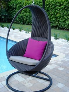 Image detail for -wicker swing chair design | Home Design Ideas
