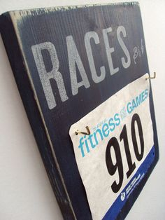 What a perfect way to store race bibs! Love.  Must have.