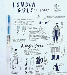 LONDON GIRLS from ℹ︎nstagram Nina Cosford Kunstjournal Inspiration, Art Journal Inspiration, Art Inspo, Grunge Look, Soft Grunge, Urban Style Outfits, Fashion Outfits, Fashion Shoot, Sketch Note