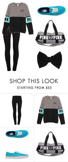 """PINK"" by komal0909 ❤ liked on Polyvore featuring J Brand, Vans and claire's"