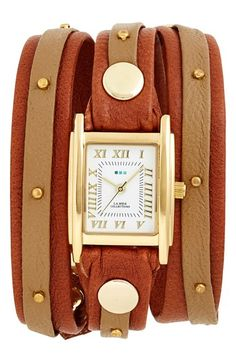 La+Mer+Collections+Studded+Leather+Wrap+Watch,+19mm+available+at+#Nordstrom