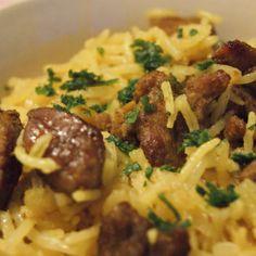 Lam og ris krydret med karri