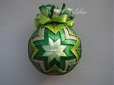 Patchworková guľa - zelená a strieborná / Matilda - SAShE.sk - Handmade…